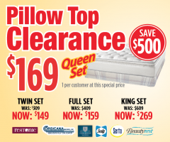 $169 Pillow Top Clearance