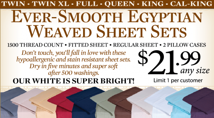 Ever Smooth Egyptian Weaved Sheet Sets