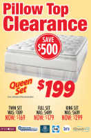 $199 Pillow Top Clearance