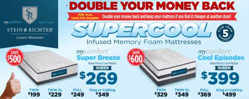 mycomfort® Supercool Memory Foam Mattresses