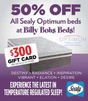 50% Off All Sealy Optimum Beds