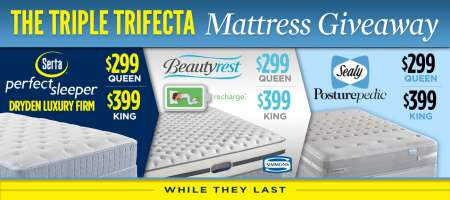 The Triple Trifecta Mattress Giveaway