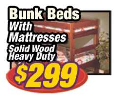 Bunk Beds with Mattresses $299