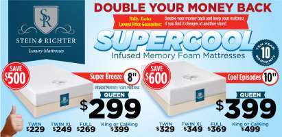 Stein & Richter Supercool Memory Foam Mattresses