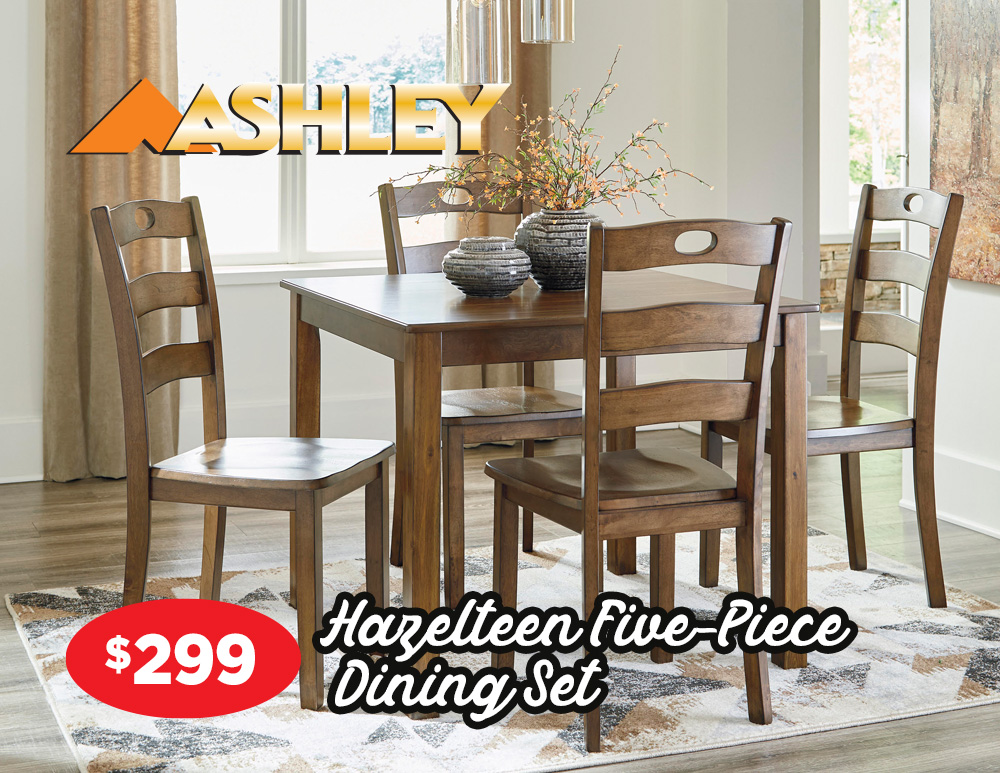 Hazelteen five piece dining set