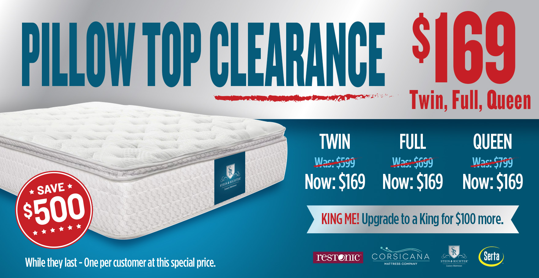 Pillow Top Clearance