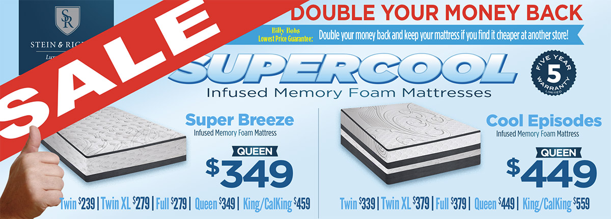 Supercool Memory Foam Mattresses
